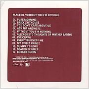 Placebo Without You I'm Nothing USA CD album Promo