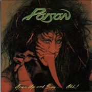 Click here for more info about 'Poison - Open Up And Say...Ahh! - 1st'