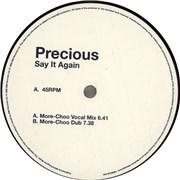"""Precious Say It Again UK 12"""" vinyl Promo"""