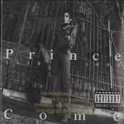 Click here for more info about 'Prince - Come - Gold promo stamped'
