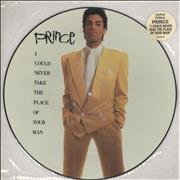 "Prince I Could Never Take The Place Of Your Man UK 12"" picture disc"