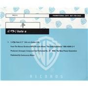 Prince I Hate U UK CD single Promo