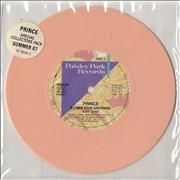 "Prince If I Was Your Girlfriend - Peach Vinyl + Inserts UK 7"" vinyl"