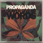 Click here for more info about 'Propaganda - Heaven Give Me Words'