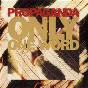 Click here for more info about 'Propaganda - Only One Word'