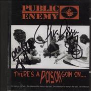 Click here for more info about 'Public Enemy - There's A Poison Goin On....  Autographed by Chuck D & Professor Griffe'