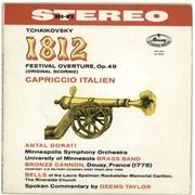 Pyotr Ilyich Tchaikovsky 1812 Festival Overture, Op.49 / Capriccio Italien UK vinyl LP