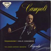 Pyotr Ilyich Tchaikovsky Tchaikovsky: Violin Concerto in D Major - 1st - Blue & Black Reverse UK vinyl LP