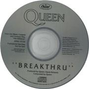 Queen Breakthru USA CD single Promo