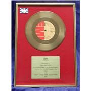 Queen Crazy Little Thing Called Love - Gold UK award disc