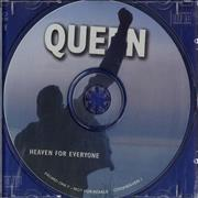 Queen Heaven For Everyone UK CD single Promo