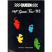 Queen Hot Space Tour '82 + Badge UK tour programme