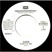 "Queen I Want It All Italy 7"" vinyl Promo"