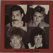 Click here for more info about 'Queen - I Want To Break Free - Red Bordered Sleeve/Black text'