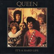Click here for more info about 'Queen - It's A Hard Life - overprinted Roger sleeve'