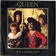 """Queen It's A Hard Life Spain 7"""" vinyl"""
