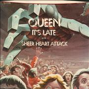 "Queen It's Late  + P/s USA 7"" vinyl"