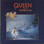 Queen Live At Wembley '86 - VG UK 2-LP vinyl set