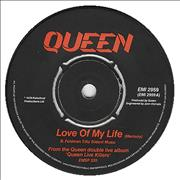 "Queen Love Of My Life UK 7"" vinyl"