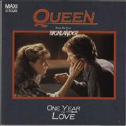 """Queen One Year Of Love France 12"""" vinyl"""