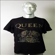 Queen Queen Crest - Black Short Sleeve XL UK t-shirt