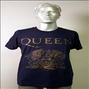 Click here for more info about 'Queen - Queen Crest - Blue Short Sleeve XL'