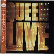 Queen Queen Live + Obi Japan vinyl LP