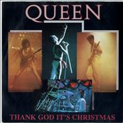 Click here for more info about 'Queen - Thank God It's Christmas - Paper label + P/S'