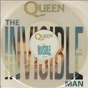 "Queen The Invisible Man - Clear Vinyl UK 12"" vinyl"