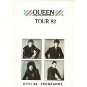 Queen Tour 82 + Pass & Badge UK tour programme