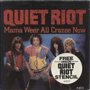 Click here for more info about 'Quiet Riot - Mama Weer All Crazee Now + Stencil'