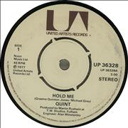 Click here for more info about 'Quint (Pop) - Hold Me'