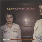 Click here for more info about 'REM - Crush With Eyeliner - Orange Vinyl + Calendar'