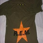 Click here for more info about 'REM - Khaki Black Star T-Shirt - Large'