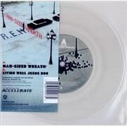 """REM Man-Sized Wreath - Clear Vinyl UK 7"""" vinyl"""