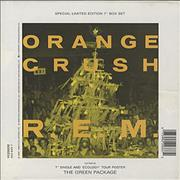 "REM Orange Crush Box with Poster UK 7"" box set"
