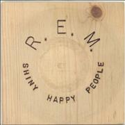 Click here for more info about 'REM - Shiny Happy People + Sleeve'