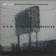 Click here for more info about 'REM - Strange Currencies - Neon Green Vinyl'