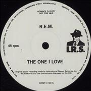 "REM The One I Love UK 12"" vinyl Promo"