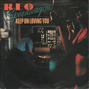 Click here for more info about 'R.E.O. Speedwagon - Keep On Loving You - P/S'