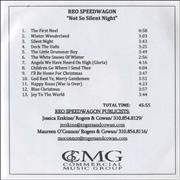 Click here for more info about 'R.E.O. Speedwagon - Not So Silent Night'