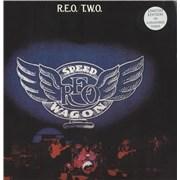 Click here for more info about 'R.E.O. Speedwagon - R.E.O./T.W.O. - Blue Vinyl - Sealed'