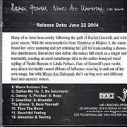 Rachel Goswell Waves Are Universal USA CD album Promo