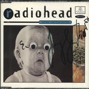 Click here for more info about 'Radiohead - Anyone Can Play Guitar - Autographed'