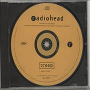 Radiohead Creep USA CD single Promo