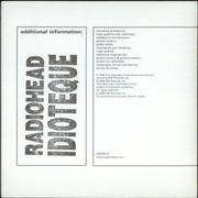 Click here for more info about 'Radiohead - Idioteque'
