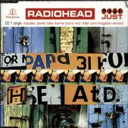 Radiohead Just - reissue UK 2-CD single set