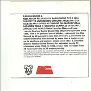 Click here for more info about 'Radiohead - Kid A - Stamped Sleeve'