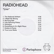 Click here for more info about 'Radiohead - Live'