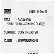 Click here for more info about 'Radiohead - Push/Pulk - Spinning Plates'